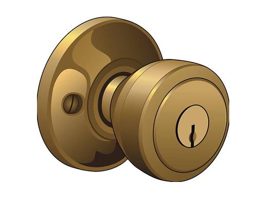 Дверная ручка с замком - door knob [dɔː nɒb]