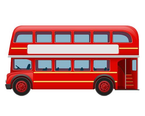 Автобус по-английски - bus [bʌs]
