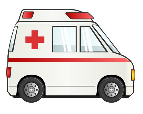 Автомобиль скорой помощи на английском языке - ambulance [ˈæmbjʊləns]