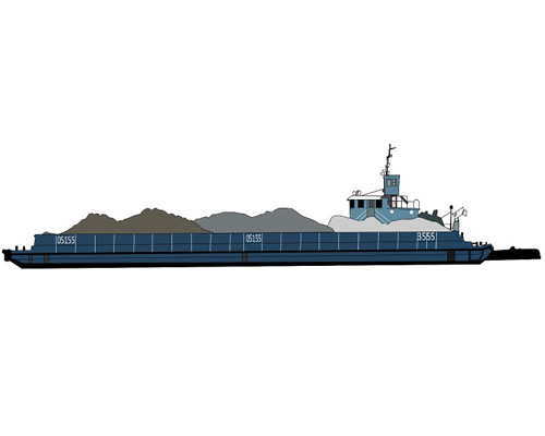 Баржа по-английски - barge [bɑːʤ]