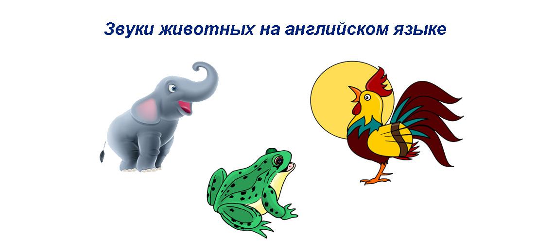 Звуки животных на английском языке